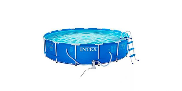 Set piscina estructural intex 14614 litros woow uruguay for Piscina estructural intex
