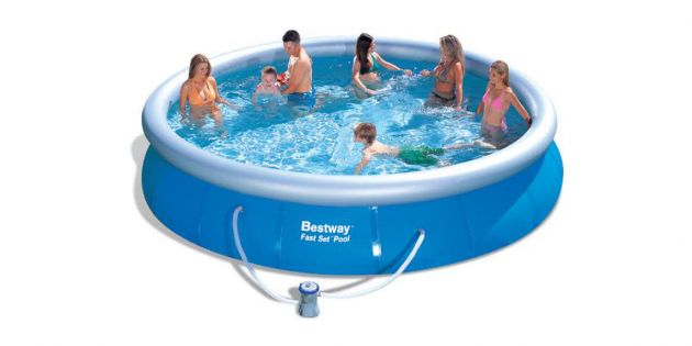Piscina inflable bestway 10179 lts woow uruguay for Piscina inflable bestway